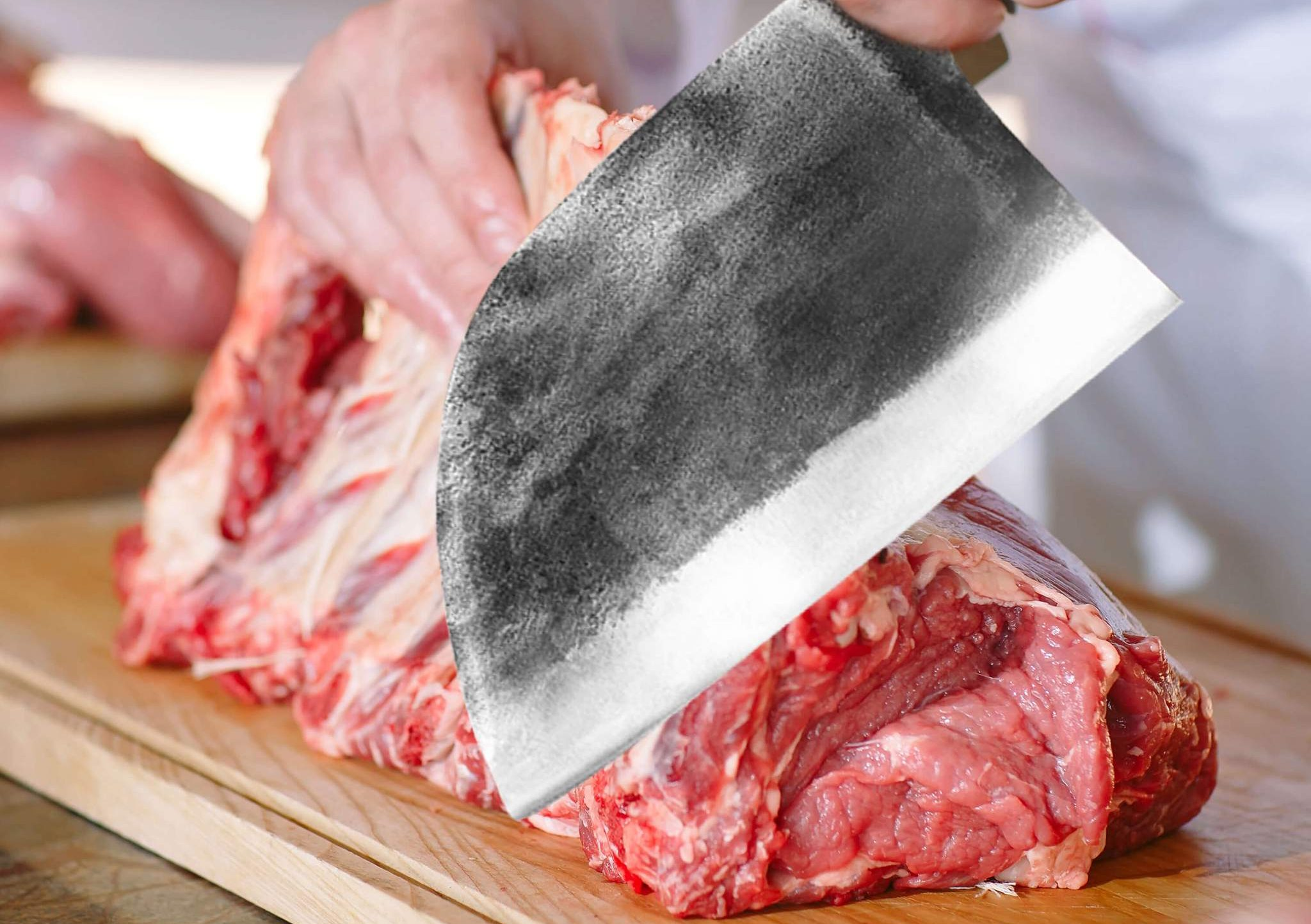 Using a Serbian Chef Knife For Butchery