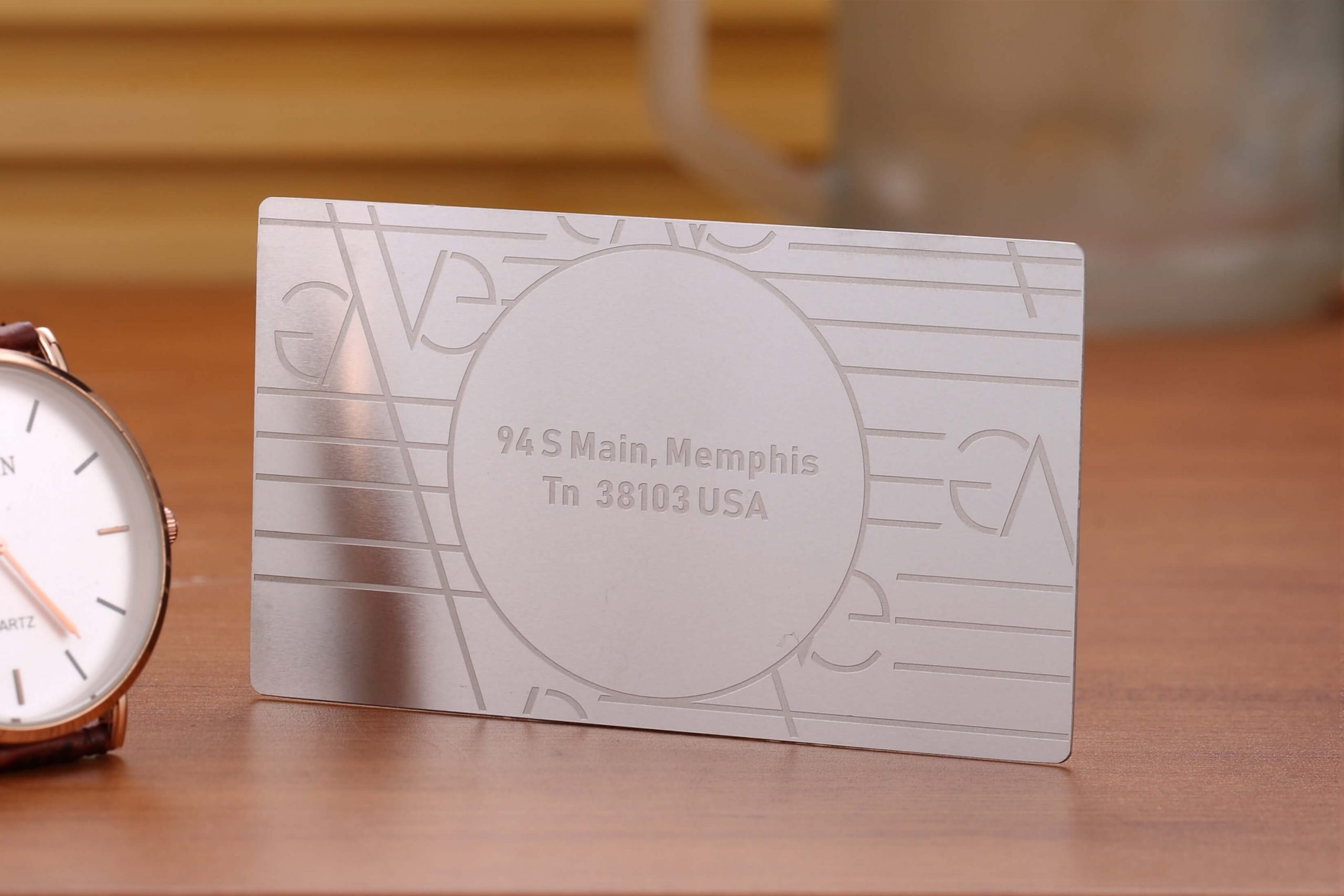 white metal business cards